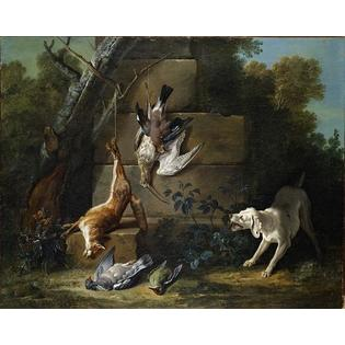 WahooArt-Oil-Painting Hand painted reproduction - 24 x 19 inches / 61 x 48 CM - Jean-Baptiste Oudry - Dog Guarding Dead... at Sears.com