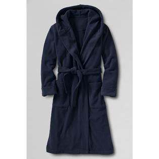 Lands' End Toddler Boys' Solid Hooded Fleece Robe at Sears.com