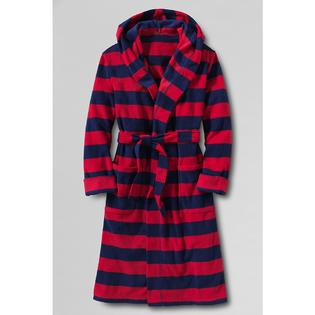 Lands' End Toddler Boys' Printed Hooded Fleece Robe at Sears.com