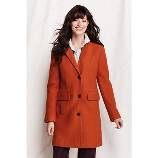 Lands' End Women's Petite Boiled Wool Walker Coat at Sears.com