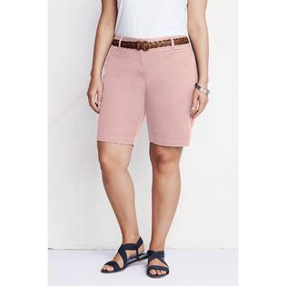 Lands' End Women's Plus Size Fit 2 Stretch Chino Bermuda Shorts at Sears.com