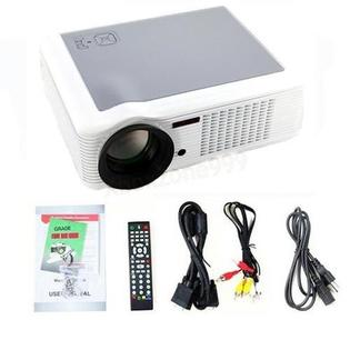 DB Power 2000 Lumen HD Home Theater Portable LCD Projector LED Lamp DVD HDMI USB TV 1080P White at Sears.com