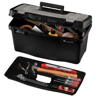 "Stack-On Tool Box 19"" Wx10"" Hx10"" Depth Plastic Black at Sears.com"