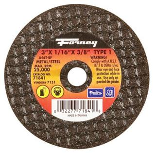 "Forney Industries Aluminum Cutting Wheel 3""x1/16"" x 3/8"" 25500 RPM at Sears.com"