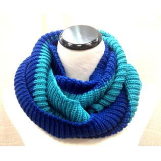 Cover up Fall Winter Men Women knit crochet circle 2 tone infinity tube scarf wrap at Sears.com