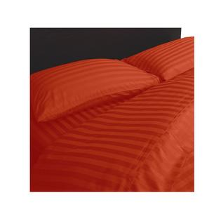 Extravagant Sheets Hotel Quality 600TC Egyptian Cotton Stripe Sheet Set - Twin XXL , Brick Red with 25