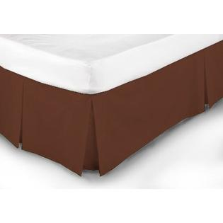 Extravagant Sheets New Collection 100% Egyptian Cotton 1PC Bed Skirt 300 Thread Count in Solid Brick Red , Cal King with 12