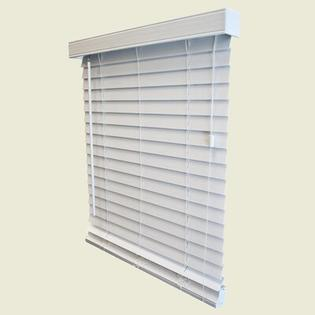"Wildon Home 2"" Faux Wood Blind in White - 96"" Length - Size: 46"" W x 96"" L at Sears.com"