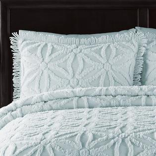 LaMont Arianna Chenille Bedspread Set - Color: Pearl Blue, Size: Queen at Sears.com