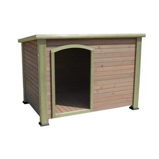"Precision Pet Extreme Outback Log Cabin Dog House - Size: Small (22.2"" H x 24.6"" W x 33.3"" D), Color: Green at Sears.com"