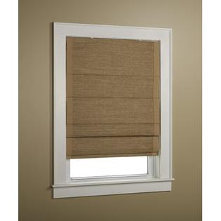 "Green Mountain Vista Woven Cane Paper Insulated Roman Shade with Border - Color: Wicker with Wheat Border, Size: 36"" x 63"" at Sears.com"