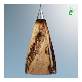 "BRUCK Zara One Light Mini Pendant - Canopy Size: 2"" with Junction Box, Finish: Matte Chrome, Glass Color: Blue Swirl at Sears.com"