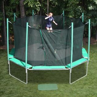 KIDWISE 16 ft. Octagon Trampoline with Enclosure - Pad Color: Green/Purple/Yellow at Sears.com