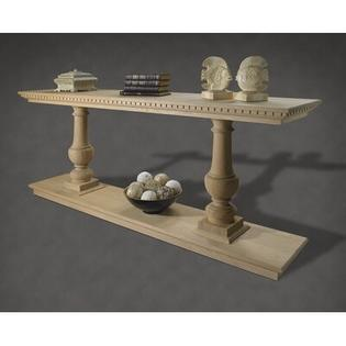 A&E Wood Designs French Restoration Large Provence Dual Baluster Console Table - Finish: Pearl White at Sears.com