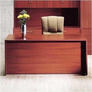 "High Point Furniture Hyperwork 72"" W Double Pedestal Office Credenza with Drawers - Pull: Chrome, Finish: Windsor Cherry at Sears.com"