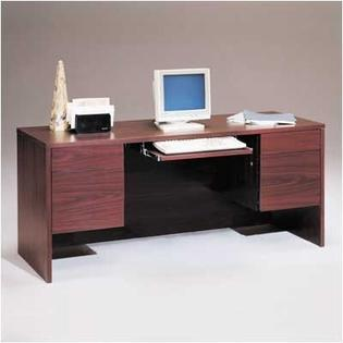 "High Point Furniture Bravo Panel 66"" W Computer Credenza with Drawers - Finish: Walnut at Sears.com"