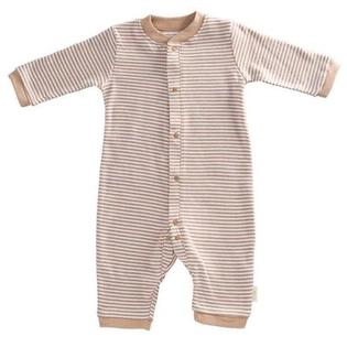 Tadpoles Organic Double Knit Cotton Footless Snap Front Romper in Cocoa - Size: 0 - 3 months at Sears.com
