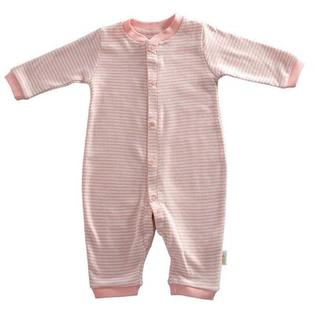 Tadpoles Organic Double Knit Cotton Footless Snap Front Romper in Salmon - Size: 3 - 6 months at Sears.com