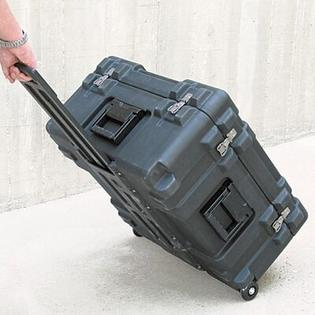 "SKB Mil-Standard Roto Case:  14"" H x 25 3/4"" W x 25 3/4"" D (outside) - Style: Foam & Wheels at Sears.com"