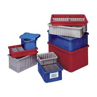 "Quantum Dividable Grid Storage Containers (8"" H x 10 7/8"" W x 16 1/2"" D) - Color: Red (Set of 8) at Sears.com"