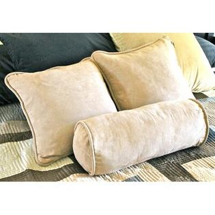 "Blazing Needles 18"" Futon Micro Suede Pillows with Bolster Package (Set of 3) - Fabric: Red Wine at Sears.com"