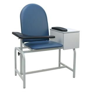 Winco Manufacturing Padded Blood Drawing Chair with Drawer - Color: Moss Green, Style: IV Pole Left Rear at Sears.com