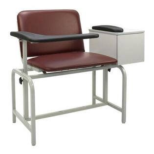 Winco Manufacturing Extra Large Blood Drawing Chair with Drawer - Color: Moss Green, Style: Dual Pivot Arms, TB133, IV Pole Left Rear at Sears.com