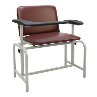 Winco Manufacturing Extra Large Blood Drawing Chair - Color: Moss Green, Style: Dual Pivot Arms and TB133 and IV Pole Left Rear at Sears.com