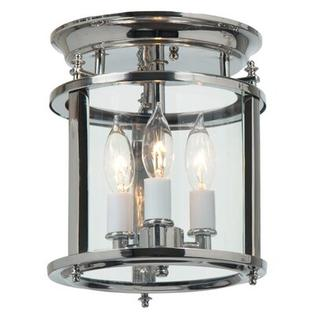 "JVI Designs Murray Hill 3 Light Flush Mount - Size: 12.5"" H x 10.5"" W, Finish: Polished Nickel at Sears.com"