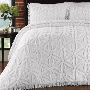 LaMont Arianna Chenille Bedspread Set - Size: Twin, Color: White at Sears.com