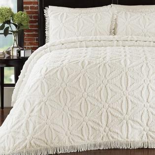 LaMont Arianna Chenille Bedspread Set - Size: Twin, Color: Ivory at Sears.com