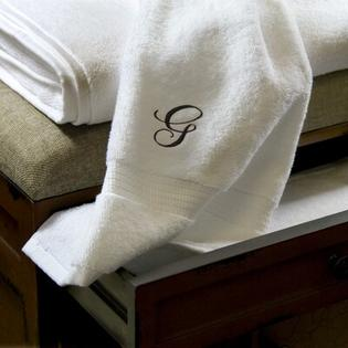 Luxor Linens Giovanni 3 Piece Towel Set - Monogram Letter: V, Monogram Color: Black at Sears.com