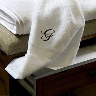Luxor Linens Giovanni 6 Piece Towel Set - Monogram Color: Black, Monogram Letter: V at Sears.com