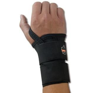 ERGODYNE ProFlex 4010 Double Strap Wrist Support for Left Hand - Color: Black, Size: Large at Sears.com