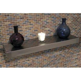 "A-Line by Advance Tabco Floating Wall Shelf - Size: 3"" H x 24"" W x 10"" D at Sears.com"