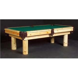 Northwoods Billiards Norway  7' or 8' Pool Table - Finish: Clear Lacquer, Felt Color: Dark Green, Size: 7' at Sears.com