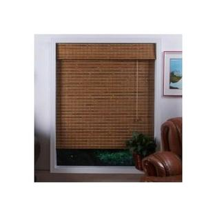 "Top Blinds Arlo Blinds Bamboo Roman Shade in Dali Natural - Size: 57"" W x 74"" H at Sears.com"