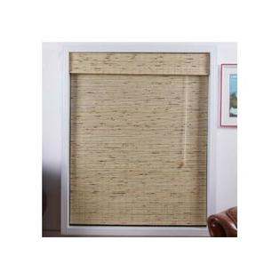 "Top Blinds Arlo Blinds Bamboo Roman Shade in Petite Tropical Rustic - Size: 28"" W x 54"" H at Sears.com"