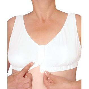 Silvert's Women's Easy Snap Front Closure Bra in White - Size: 3X-Large at Sears.com