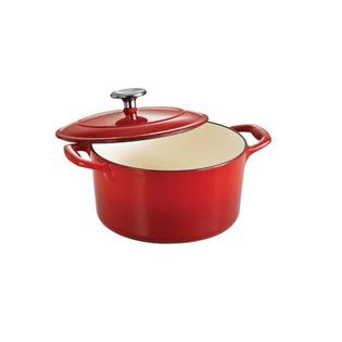 Tramontina Gourmet Enameled Cast Iron 5 1/2 Qt Covered Round Dutch Oven Gradated - Finish: Gradated Red at Sears.com