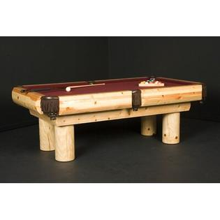 Northwoods Billiards Pine Ponderosa  7' or 8' Pool Table - Finish: Clear Lacquer, Felt Color: Steel Gray, Size: 7' at Sears.com
