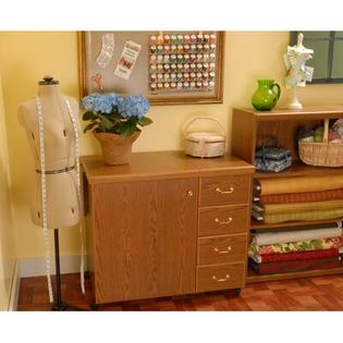 Marilyn Sewing Cabinet - Finish: Oak