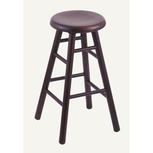 "Holland Bar Stool Domestic hardwood Saddle Dish Swivel Stool - Frame Finish: Oak - Black Paint, Height: 36"", Leg Style: Smooth Legs at Sears.com"