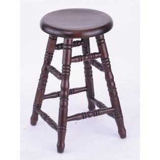 "Holland Bar Stool Domestic hardwood Saddle Dish Swivel Stool - Frame Finish: Oak - Black Paint, Height: 24"", Leg Style: Turned Legs at Sears.com"