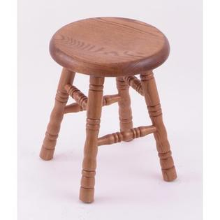 "Holland Bar Stool Domestic Hardwood 18"" Saddle Dish Swivel Stool - Frame Finish: Oak - Natural, Leg Style: Turned Legs at Sears.com"
