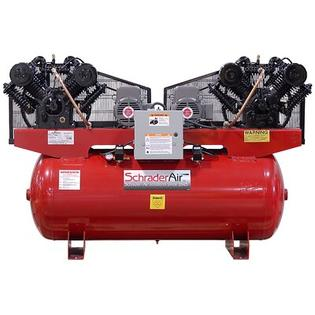 Schrader Duplex Professional Series Two Stage 7.5 HP 120 Gallon Single Phase Horizontal Air Compressor - Voltage: 208V at Sears.com