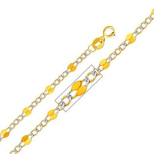 "Precious Stars 14kt Yellow Gold 3.2mm Stamped Figaro Chain  - Size: 22"" at Sears.com"