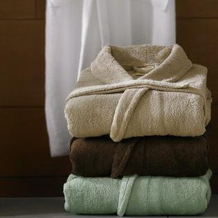 Luxor Linens Anini Bamboo and Cotton Spa Bath Robe - Color: White at Sears.com