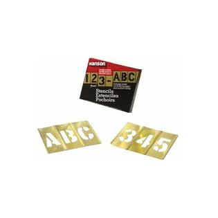 "C.H. Hanson Brass Stencil Letter & Number Sets - 4"" 45 pcs set  gothic style letters & f at Sears.com"