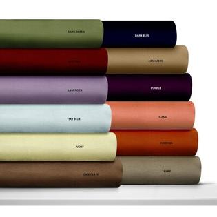 Tribeca Living Luxury Solid Flannel Deep Pocket Sheet Set - Size: Queen, Color: Chocolate at Sears.com